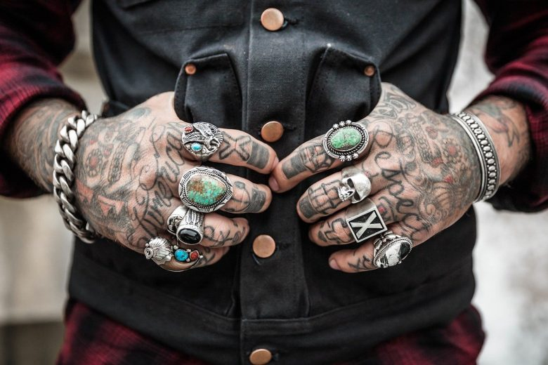 Hands Tattoos Rings Accessories Design Style