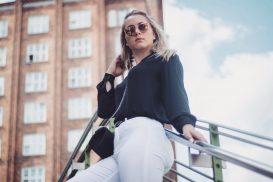 Business Woman People Shooting Fashion Model